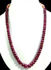 Big Size Single Strands Natural Red Ruby 5-11mm Faceted Beads Gemstone Necklace