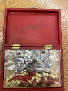 Vintage Ilex Series Travel Chess Set