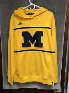 Michigan Wolverines adidas Climalite Hoodie Sweatshirt Men's Sz M $85 NEW