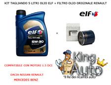 KIT TAGLIANDO OLIO ELF 5W30 + FILTRO OLIO ORIGINALE NISSAN QASHQAI JUKE 1.5 DCI