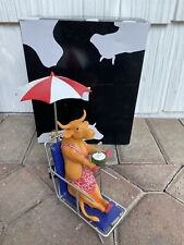 """New Cow Parade """"Take It Easy� Cow Figurine Rare 7771"""
