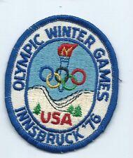 Olympic Winter Games USA Innsbruuck 76 athlete patch 3-1/2 X 2-3/4 #217