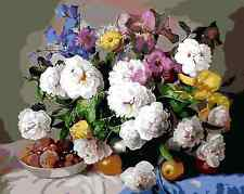 Painting By Numbers Kit 50*40cm 8008 Still Life with Flowers AU Stock S7
