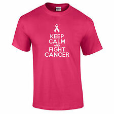 Keep Calm And Fight Cancer Race For Life Gift Premium Quality T-Shirt Up To 5XL
