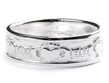 Mens Claddagh Silver Ring