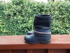 Cat & Jack Blue/Silver Zip Up Boots Toddler Girl's Size 9 New