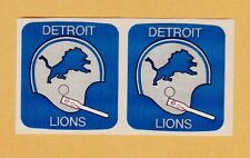 2 ORIGINAL DETROIT LIONS 1 BAR HELMET DECALS STICKERS from SEALED 1971 PACKAGE