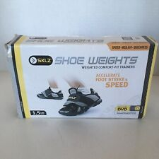 SKLZ 1.5 LB. SHOE WEIGHTS with Training DVD & Workout Plan Speed Agility Quick