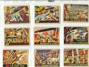 MARS ATTACKS 1-55 Gum Cards Full 1964 Set (Topps)Bubbles inc UK not 1962/63/1965