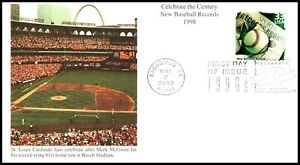 ED-785 OAS-CNY FIRST DAY 1999 CELEBRATE CENTURY MCQUIRE HITS 61ST STEROID HR