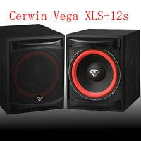 """New Cerwin Vega XLS-12S 12"""" Front Firing Powered Subwoofer 250 Watt Home Theater"""