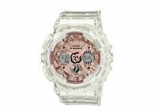 Casio G-Shock S-Series GMAS120SR-7A Clear Rose Gold-Tone Dial Women's Watch