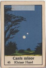 Constellation Canis Minor Lesser Dog Astronomy Sky Stars 1930s Ad Card