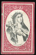 ANTIQUE HOLY CARD OF ST CATHARINA