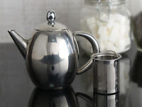 LA CAFETIERE Paris Stainless Steel 500ml TEAPOT With Infuser Basket