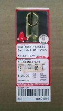 October 1, 2005 New York Yankees vs Boston Red Sox Full Ticket - NY Clinch East