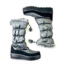 Pajar Canada Women Tory Boots Size 10 EUR 41 Charcoal Gray Faux Fur