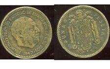 ESPAGNE  1 pesetas 1947    (50)    ( bis )