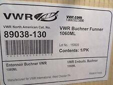 VWR Ceramic Porcelain 1060mL Buchner Filtering Funnel - Fits 150mm Filter Paper