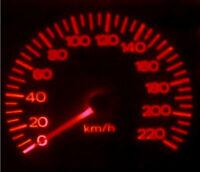 Red LED Dash Gauge Light Kit for Holden WB HQ Sedan Wagon Van Ute Statesman