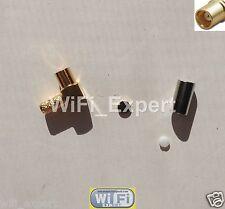 100 x MMCX Angle Female plug L Type connector RG316 RG174 RF cable crimp solder