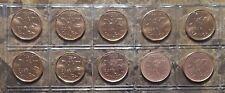 Canada 1990 - 1999 10 Coin Gem BU Set!!