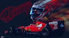 "083 Ferrari - Enzo F458 F50 F1 California LaFerrari Super Car 24""x14"" Poster"