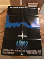 The Abyss 1989 Original Movie Poster Adventure Drama Sci-Fi Silhouettes