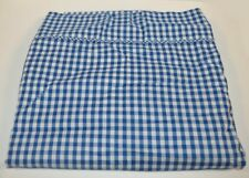 Ralph Lauren Belle Harbor Blue Gingham Full Flat Sheet New
