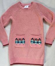 New Hanna Andersson Charming Mauve Pink Tunic Sweater Dress sz 110/4-6 yr