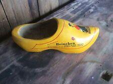 Vintage Wood Shoe , Holland , Heineken Beer Advertising, Yellow Clog