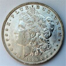 1885-P  MORGAN SILVER DOLLAR, Almost Uncirculated Philadelphia Mint, NICE COIN