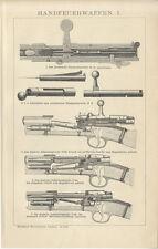 Handfeuerwaffen preußisches Zündnadelgewehr Infanteriegewehr Brockhaus 4006