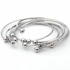 Wholesale 5pcs/lot Adjustable Cuff Open Expandable Wire Bangles Charm Bracelets