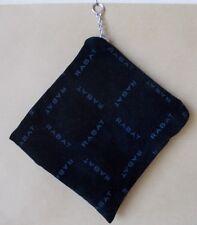bolsa de terciopelo para joyas RABAT 11x11,5cm con cremallera.color negro