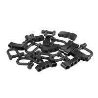 10x U Style Zinc alloy Adjustable Shackle Buckle For Paracord Bracelet Rope T8K8
