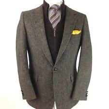 Woodmere Tweed Taupe 42L Wool Men's 2 Button Sport Coat Twill Jacket Blazer