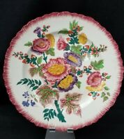 Antique Vtg Wedgewood Etruria Dinner Plate Colorful Floral Flowers 10B England