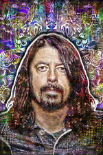 Dave Grohl Of The Foo Fighters Poster, Portrait 2 Dave Grohl 12x18inch Free Ship
