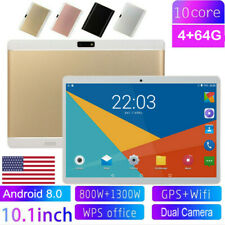 "10.1"" HD Tablet PC Android 8.0 10 Core 4+64GB Dual Camera WIFI Dual SIM Phablet"