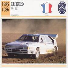 1985-1986 CITROEN BX4 TC Racing Classic Car Photo/Info Maxi Card