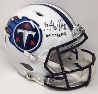 """MARCUS MARIOTA Autographed """"2015 1st Rd Pick"""" Titans Speed Helmet STEINER LE 1/8"""