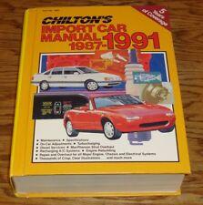 1987-1991 Chiltons Import Car Shop Service Manual BMW Mercedes Benz Porsche