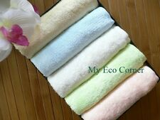 100% Natural Organic Bamboo Fiber Washcloths hand towel.set of 5 pcs.absorbent