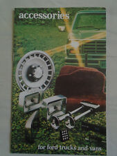 Ford Accessories for Trucks & Vans brochure Oct 1981 USA market small format