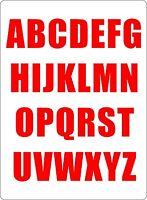 Set 26x aufkleber sticker buchstabe alphabet mulleimer tur rot