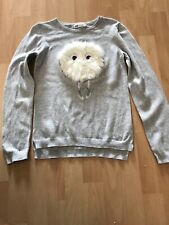 Girls Grey Thin Jumper Age 9-10 From H&M
