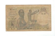 New listing West Africa - Ten (10) Francs 1948