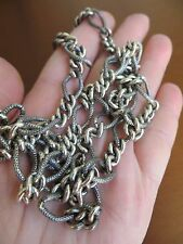 """Vintage Texture /Oxidized Figaro Links Chain 60.85 gr.30"""" long 925 sterling !"""