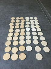 58 Bakelite white casino chips